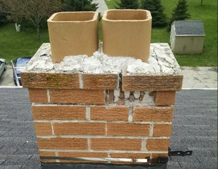 Crumbling Chimney that needs to be fixed